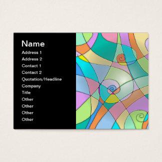 パステルのカラフルによって模倣されるステンドグラス 名刺