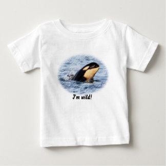 パステルのシャチのベビーのスパイのホツプ ベビーTシャツ