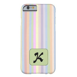 パステルのストライプのレターケース BARELY THERE iPhone 6 ケース