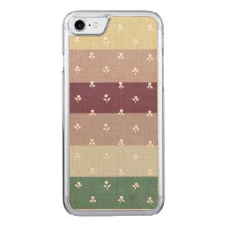 パステルのストライプ(木の場合)の小さいチューリップ CARVED iPhone 8/7 ケース
