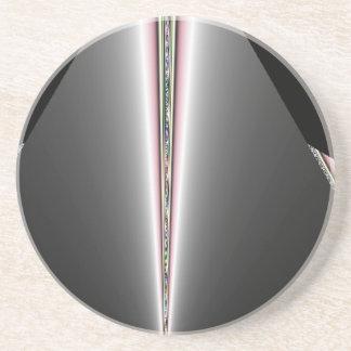 パステルのヒントを含む銀製の円錐形 コースター