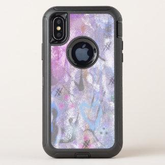 パステルの抽象芸術 オッターボックスディフェンダーiPhone X ケース