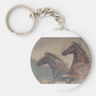パステルの種馬のデュオ キーホルダー