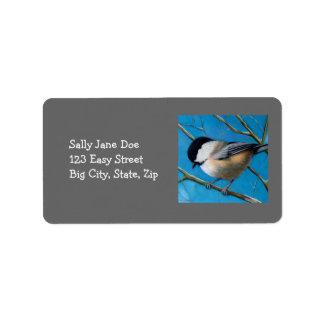 パステルの《鳥》アメリカゴガラ: 宛名ラベル ラベル