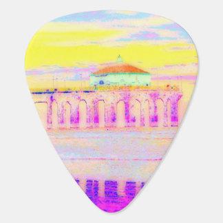 パステルのManhattan Beach桟橋カリフォルニア ギターピック