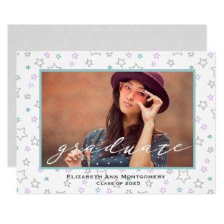 パステルは卒業の写真カードを主演します カード