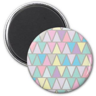 パステルカラーの三角形パターン マグネット