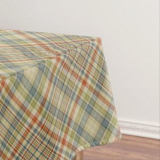 パステルカラーの格子縞パターン テーブルクロス