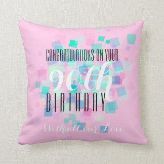 パステルカラー1 -第90誕生日のカスタムの枕 クッション