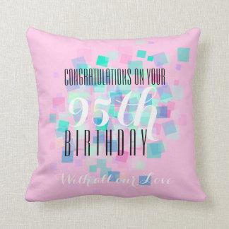 パステルカラー1 -第95誕生日のカスタムの枕 クッション