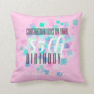 パステルカラー1 - 85th誕生日のカスタムの枕 クッション