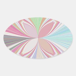パステルカラー 楕円形シール