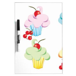パステル調のかわいいカップケーキ ホワイトボード