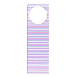 パステル調のイースターは縞で飾ります ドアノブプレート