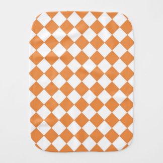 パステル調のオレンジダイヤモンドのチェッカーボードパターン バープクロス