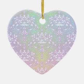 パステル調のオーロラの花柄の空想のダマスク織 セラミックオーナメント