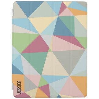 パステル調のカラフルなモダンの抽象芸術の幾何学的なパターン iPadスマートカバー