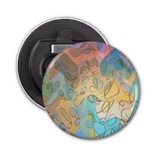 パステル調のガラス抽象美術 栓抜き