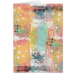 パステル調のグランジで抽象的な誕生日 カード