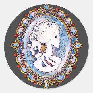 パステル調のゴシックの骨組女性 ラウンドシール