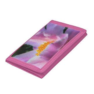 パステル調のシャクヤクのナイロン財布