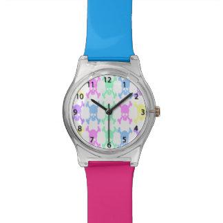 パステル調のスカルパターン腕時計 腕時計