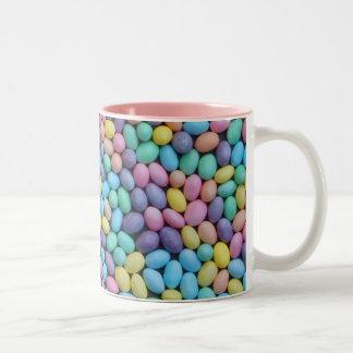 パステル調のゼリー菓子 ツートーンマグカップ