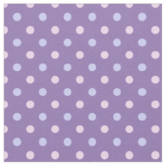 パステル調のピンクまたは紫色の水玉模様の生地-カスタムBG ファブリック
