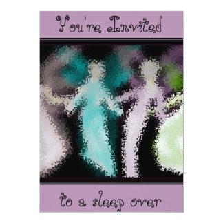 パステル調の天使のダンスの眠りのパーティの招待状 カード