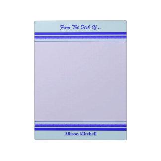 パステル調の専門ビジネスの明るい青い縞 ノートパッド