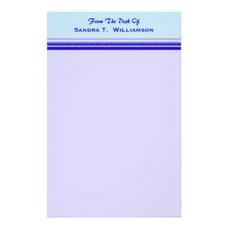 パステル調の専門ビジネスの明るい青い縞 便箋
