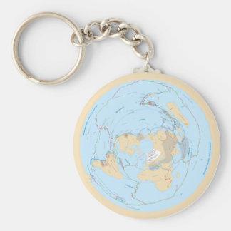 パステル調の平らな地球の構造プレートAEはKeychainの地図を描きます キーホルダー