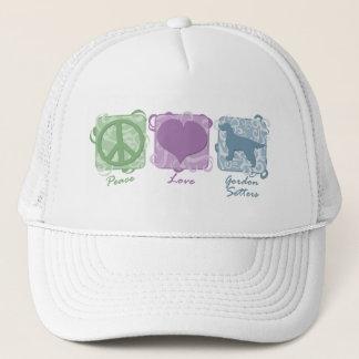 パステル調の平和、愛およびゴードンセッター キャップ
