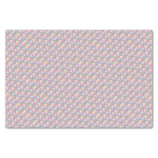 パステル調の幾何学的な三角形パターン 薄葉紙