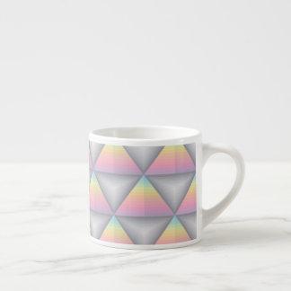 パステル調の幾何学的な三角形ラインエスプレッソのマグ エスプレッソカップ