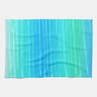 パステル調の抽象美術のティール(緑がかった色)の青緑の緑 キッチンタオル
