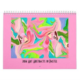 パステル調の抽象美術 カレンダー
