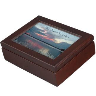 パステル調の日没のカスタムな記念品箱 ジュエリーボックス