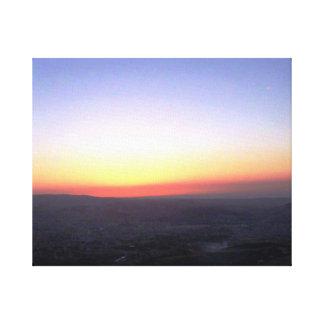 パステル調の日没 キャンバスプリント
