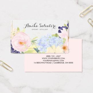 パステル調の春の花の名前入りな名刺 名刺