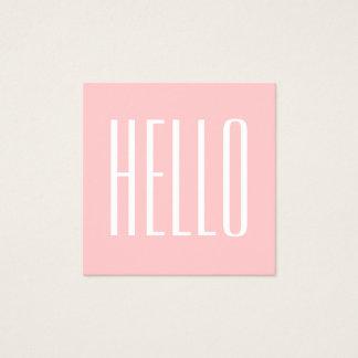 パステル調の最小主義のモダンなピンクのはっきりしたな名刺 スクエア名刺