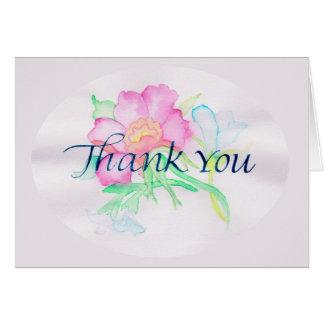 パステル調の水彩画によっては小型花花束TYが開花します カード