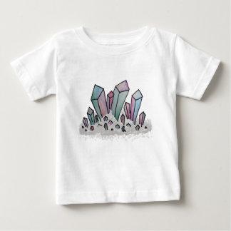 パステル調の水彩画の水晶の集り ベビーTシャツ