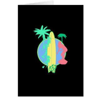 パステル調の波板ロゴ カード
