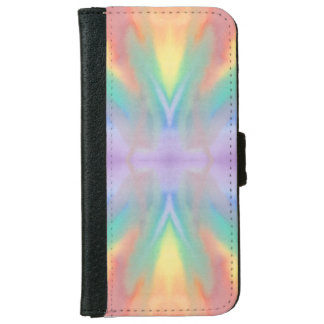 パステル調の渦巻の電話ウォレットケース iPhone 6/6S ウォレットケース