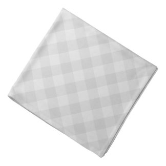 パステル調の灰色のタータンチェックのバンダナ バンダナ
