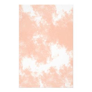 パステル調の珊瑚のピンクの水彩画の結婚式の文房具 便箋