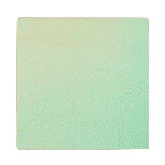 パステル調の真新しい緑の粋な色 ウッドコースター