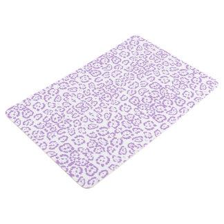 パステル調の紫色のヒョウのかわいいのアニマルプリント フロアマット