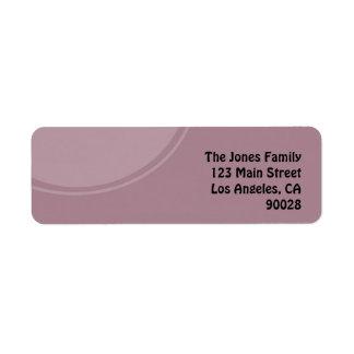 パステル調の紫色のモダンな円 ラベル